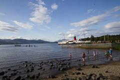 So long ago (Unh@ppyb@st@rd) Tags: sky sun scotland sand wideangle loch lochlomond maidoftheloch