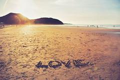 Love (Sol Z.B.) Tags: sunset sun love sol beach contraluz atardecer words sand amor playa arena palabras letras escritos