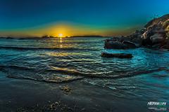 sea sunset (aziouezmazouz) Tags: sunset sea color algeria amazing
