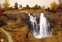 The ONLY way to shoot animals... (rubyblossom.) Tags: camera trees 3 water grass lady waterfall photographer meadow fox splash challenge mii 2014 rubyblossom rubystreasures