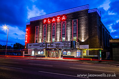 Plaza cinema (wellsie82) Tags: lighting plaza blue light sky urban cloud cinema building architecture night canon dark photography eos neon traffic streetlights streetphotography bluesky waterloo motionblur bluehour crosby 6d lightstreaks jasonwells traffictrails wellsie82 wwwjasonwellscouk jasonwellscouk
