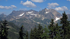 Mount Anderson from LaCrosse Pass (Mike Dole) Tags: washingtonstate olympicnationalpark lacrossepass honeymoonmeadows mountanderson westforkdosewallipsriver