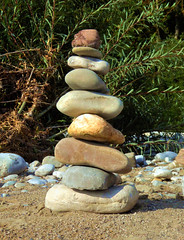 The Balance (Claude@Munich) Tags: rock stone germany bayern bavaria oberbayern upperbavaria stack steine pebble shore balance cairns ufer isar ephemeral waterside staple stapel claudemunich isarufer badtlzwolfratshausen gravelbank