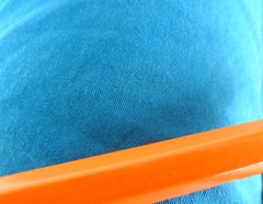 Orange+Blue (Drew Daves) Tags: blue shadow orange abstract reflection lines contrast writing words poetry poem text fabric shorts write written coloredpencil tumblr