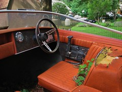 THE OLD GLASTRON INTERIOR (richie 59) Tags: trees houses summer usa house ny newyork grass america outside boat us moss weeds backyard unitedstates weekend speedboat interior saturday dirty midtown kingston driveway faded seats worn torn newyorkstate dashboard motorboat steeringwheel nys wornout nystate oldboat hudsonvalley glastron 2014 kingstonny fadedpaint ulstercounty midhudsonvalley ulstercountyny boatinterior fiberglassboat mercuryoutboard 2010s richie59 americanboat midtownkingstonny glastroncarlson midtownkingston aug2014 aug162014