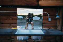 (BurlapZack) Tags: sunset summer vacation reflection outside bathroom evening twilight sink anniversary roadtrip basin wash summertime magichour emptystreets selfie weekendgetaway sortof roughingit outdoorbathroom canonef35mmf14lusm quiettown marfatx elcosmico canoneos5dmarkii glamping mirrorselfie campvibes vscofilm