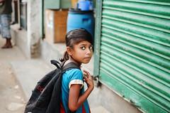 Don't you Dare... (Sheikh Shahriar Ahmed) Tags: from street school portrait girl kids digital bag children kid eyes child little naturallight streetlife dhaka bangladesh irritated banasree childportrait kidportrait dhakadivision meradia sheikhshahriarahmed