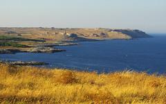 East coast of Puglia (Gregor  Samsa) Tags: trip light sunset sea summer vacation italy water evening coast italia illumination july coastal waters puglia adriatic adria apulia apuglia