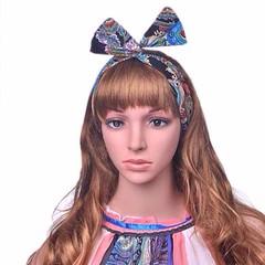 Vintage hair hoop ที่คาดผมแบบลวด ผ้าพันคอ โบว์ผูกผมลายวินเทจสวยมากแฟชั่นเกาหลี นำเข้า - พร้อมส่งW075 ราคา180บาท ที่คาดผมแบบลวดที่คาดผมเกาหลี ที่คาดผมทำด้วยผ้าชีฟองปลายรูปโบว์วินเทจใหม่น่ารักมากๆขนาดฟรีไซส์สวมใส่ได้ทุกวัยทำด้วยผ้าเนื้อดีสวยเก๋ สไตล์ที่คาดผ