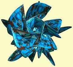5 Crossing square-tori /  (TANAKA Juuyoh ()) Tags: texture design 3d code cg pattern graphic 5 4 structure symmetry figure program torus mapping algorithm mathematica   abstruct        parametricplot3d    sawtoothwave