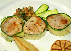 Pork Loin wrapped in Courgette, Wedges & Roasted Garlic (Tony Worrall Foto) Tags: uk england food make menu yummy nice dish photos tag cook tasty plate eaten things images x meat made pork eat foodporn add meal taste dishes cooked tasted grub iatethis foodie flavour plated foodpictures ingrediants picturesoffood photograff foodophile 2014tonyworrall