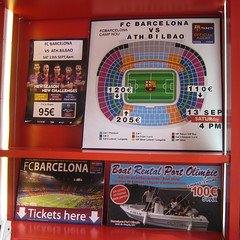 Today: FC Barcelona - Athletic Bilbao (diwan) Tags: barcelona street city espaa canon geotagged tickets spain place soccer ixus squareformat fcbarcelona catalua spanien rambla 2014 katalonien fusball athleticbilbao canondigitalixus850is pedestrianpassage rambladesantjosep fusgngerpassage geo:lat=41383514 geo:lon=2171388 flickr15220446331