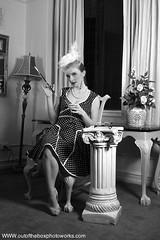 Old Hollywood Shoot (Scott L. Miller) Tags: white black vintage glasses hats retro gloves classy