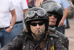 Dragster (Rongem Boyo) Tags: urban goatee beards shades smoking cigarettes rockers bikers leathers helmets
