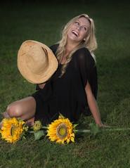 CG3A1236 (TJ Boarman) Tags: portrait woman colors hat lady canon littlerock sunflower blonde arkansas canondslr strobist canon580 sigma85f14