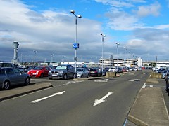 Edinburgh (View of the airport & control tower) (Netty 78) Tags: park city blue sky building tower cars car clouds buildings scotland airport edinburgh europe european control britain united union great kingdom terminal 2014 ingliston of