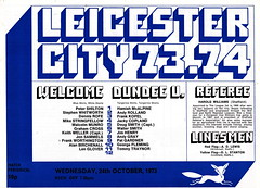 Leicester City vs Dundee United - 1973 - Page 3 (The Sky Strikers) Tags: leicester city dundee united the texaco cup filbert street official programme 10p