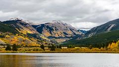 First Snow off Highway 24 (Ron Scubadiver's Wild Life) Tags: colorado rockies mountains lake sky clouds nikon 24120 landscape snow aspen