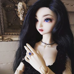 Audrey still doesn't have any clothing that fits her but she does have a new opal ring. (St. James) Tags: customhouse choa bjd iplehouse nyid bjdjewelry hybridbjd mysticeyes