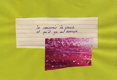 souvenir (bornschein) Tags: collage paper quote text pink spirit green heart