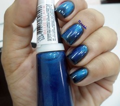 Blue Black - Ludurana (Raabh Aquino) Tags: unhas esmaltes magntico magnetic azul gradient blue nails nailpolish
