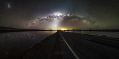 Pink Lake Reflections (ASTRORDINARY) Tags: astrophotography astronomy astro astrordinary milkyway milky panorama pano panoramic australia westernaustralia perth lake pink quairading salt sky night nightscape nightsky nikon d750 sigma sigma20 gigapan explore outdoor water wow