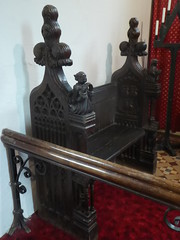 Chancel Bench, Barkestone (Aidan McRae Thomson) Tags: barkestone church leicestershire medieval woodwork woodcarving