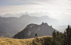 CESAR ( French | Portrait & Adventure ) Tags: landscape d810 70200mm 28 mont cesar nature mountain hike draw aquarel jump kirawashere orange blue sky leman lake montagne colline crte pic arte