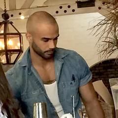 IMG_1008 (danimaniacs) Tags: friends beard scruff hot sexy man guy bald hunk bartender