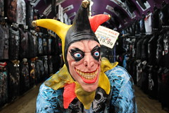 run from this clown (frankieleon) Tags: clown scary fear mask halloween danger evil prank deadly scared woods streets creep creepy 2016 sale store hoax scare teen buy purchase nefarious villian