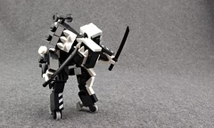 """AN501 """"Arkady"""" Dazzle Camouflage (Deltassius) Tags: mfz mf0 frame mech mecha robot war military space lego microscale science fiction"""