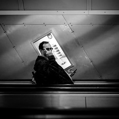 Do you want candy ? (tomabenz) Tags: sony a7rm2 escalator noiretblanc praha prague monochrome people czechrepublic bw streetview black white europe praga street photography blackandwhite sonya7rm2 streetphotography