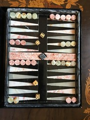 The marble set I bought off eBay last week has just arrived, it's really nice and is getting left on the coffee table at home. (allanpar) Tags: mandarinorientalhotel boardgames hongkong marble backgammon
