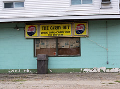 OH Utica - The Carry Out (scottamus) Tags: utica ohio lickingcounty knoxcounty old vintage plastic soft drink soda pop sign pepsi cola thecarryout