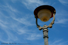 looking up... (dimitra_milaiou) Tags: sky blue greece hellas crisis clouds looking up time life place skyscape day lovely nice rust rusty light sun planet earth greek island detail nikon d d7100 7100 lights lighting street outdoor milaiou dimitra andros europe ngc