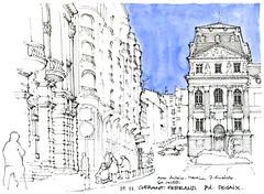 Clermont, de la place de Jaude (gerard michel) Tags: france auvergne clermontferrand place sketch croquis
