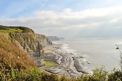 Dunraven Bay, Southerndown (cmw_1965) Tags: southerndown dunraven bay beach rocks cliffs bridgend glamorgan sea coast south wales cymru british vale