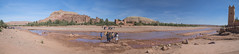 Travel to the past (biktoras07) Tags: travel past traveltothepast panorama river sky children play playing town tower montains hill historic city unesco water desert marroc asifounila aitbenhaddou victorsantos autumn midday