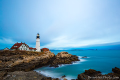 1-web-watermark (Brian M Hale) Tags: cape elizabeth light house lighthouse autumn fall me maine newengland coast rocks architecture building long exposure atlantic ocean brian hale brianhalephoto lee filters little stopper canon 6d water nd neutral density portland head portlandhead