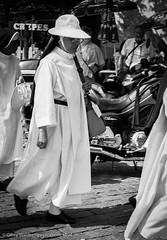 Habit and Hat #2 (gwpics) Tags: religion asian paris french dress mono nun streetphotography female france hat habit 1994 belief blackwhite blackandwhite eastern faith film monochrome oriental socialcomment socialdocumentary society strasenfotograpfie bw lifestyle streetpics