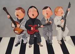 Wu Qiong - The Beatles (Ode To Art) Tags: childlike funny humour art prints paper chinese wuqiong beatles band album
