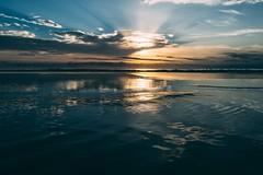 Sunset on the beach (mougrapher) Tags: ifttt 500px sunset sea sky water clouds beach sun blue ocean seascape beautiful waves sand beauty light travel mare tramonto italia nuvole sole