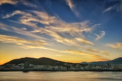 Sunset in Split, Croatia (Bebo_cik) Tags: nopeople clouds sky landscape sea sunset