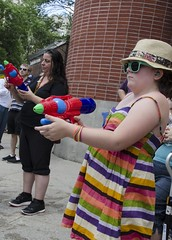 D7K_5935_ep (Eric.Parker) Tags: march pride toronto dyke lesbian nudity parade 2016 breast naked breasts topless publicnudity public candid nude gender gay homosexual lgbtq facepaint watergun squirtgun