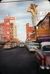 Fremont Street, Las Vegas  — 1958 (ElectroSpark) Tags: downtown 1950s nevada