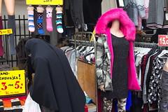 Faceless (chipje) Tags: street market burqa burka muslim woman mannequin haagsemarkt thehague netherlands faceless