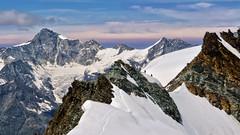 View from the Feejoch - Allalinhorn - Wallis - Schweiz [Explore #27] (Felina Photography) Tags: snow nature europe landscape ausflug gita tour tourism turismo bergen fotografie fotografia photography montagna mountain alpen alpi alps felinafoto felina suisse zwitserland schweiz svizzera switzerland valais vallese wallis climbing mountaineers mountaineering alpinist alpinismo alpinism feejoch saasfee allalinhorn