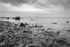 DSC00187 (grahedphotography) Tags: resundsbron resund oresund sweden swe denmark a7ii a7mk2 nature natur water ocean hav bridge beach blackandwhite grey malm limhamn