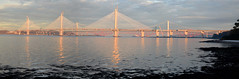 134 years of bridges (beqi) Tags: 2016 bridge forth forthbridge forthroadbridge ironwork panorama photoshoppery railway road southqueensferry