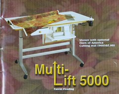 SEWING:  Horn Multi-Lift 5000 cutting table.